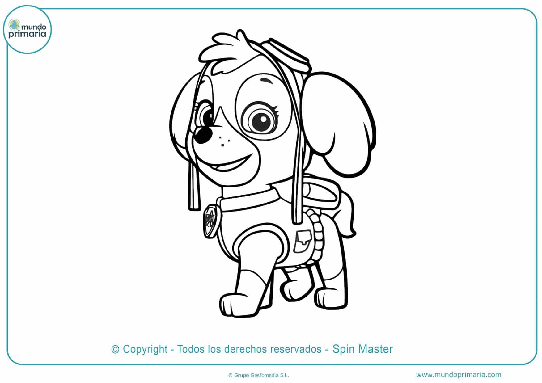 imagenes de dibujos para colorear de la patrulla canina