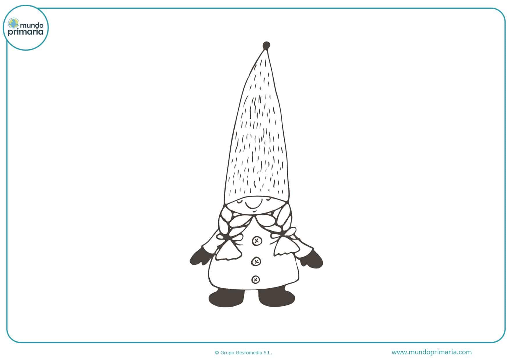 imágenes de duendes y hadas para colorear