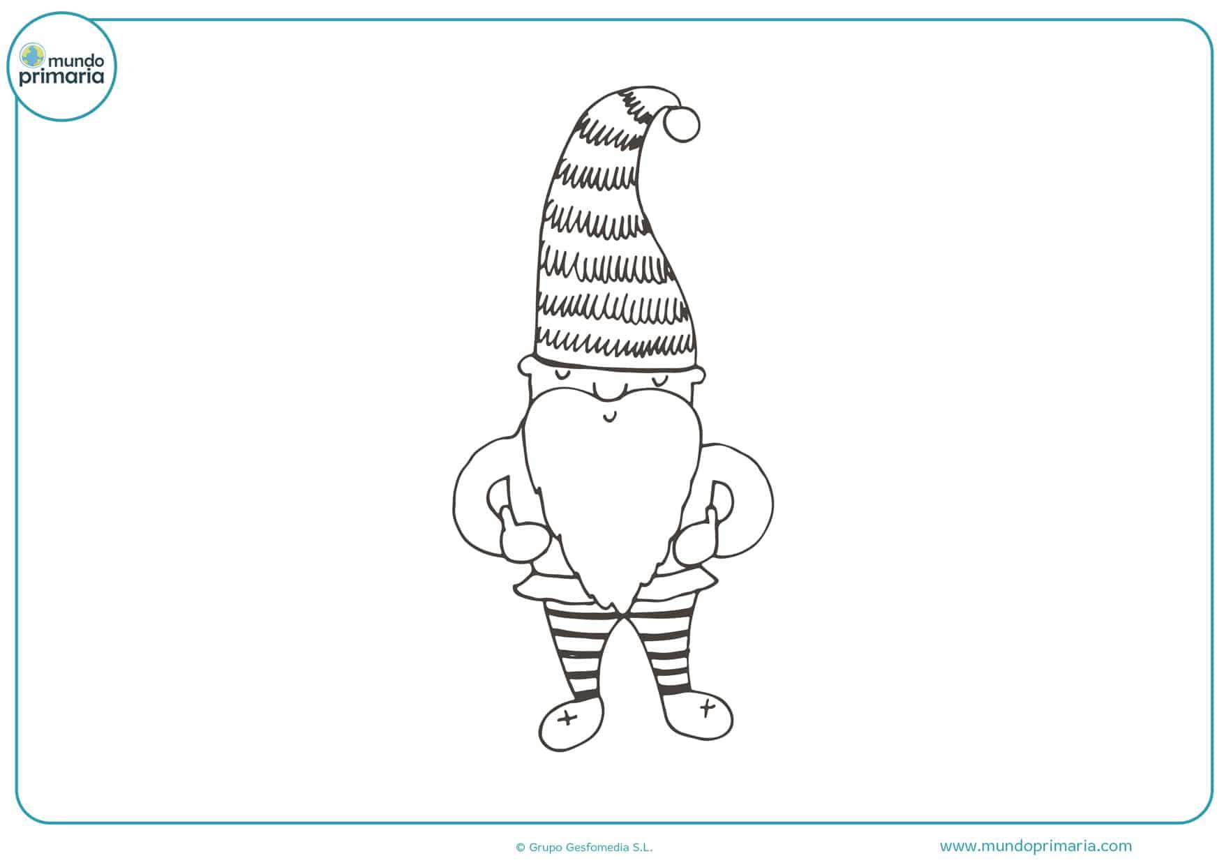 imágenes de duendes de navidad para colorear