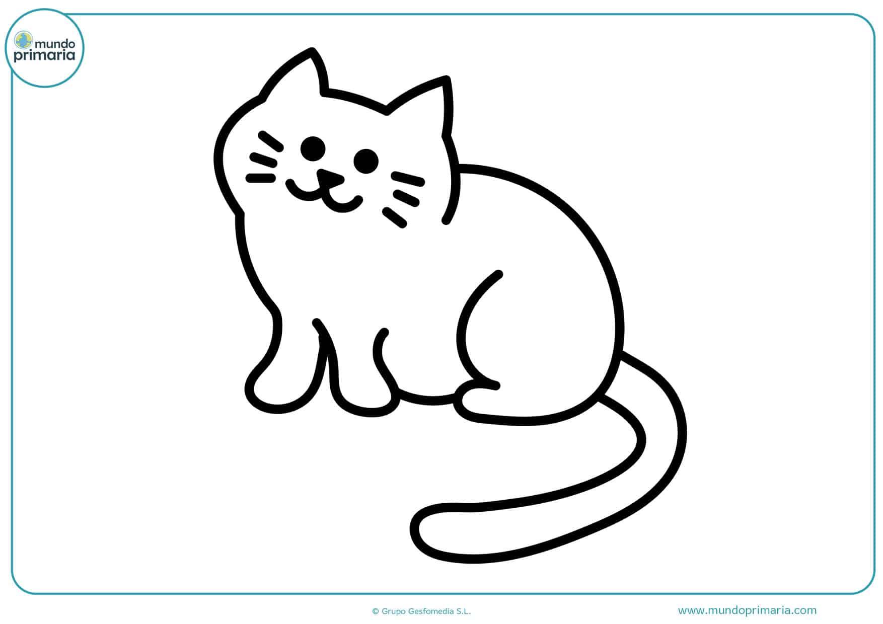 imágenes de gatos bebes para colorear