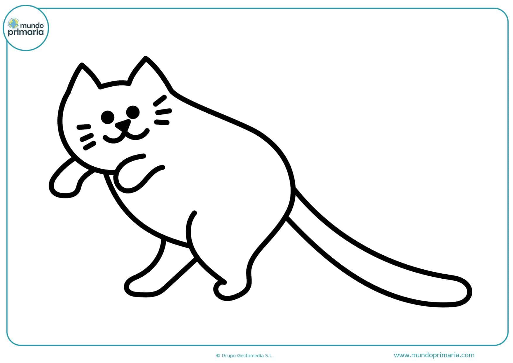 imágenes de gatos para colorear gratis