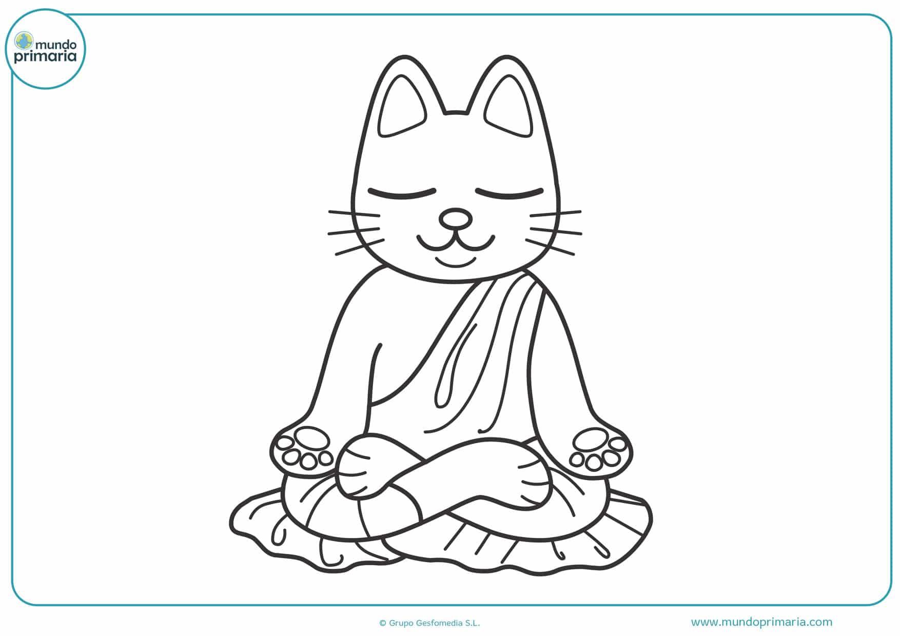 imágenes de gatos para colorear e imprimir