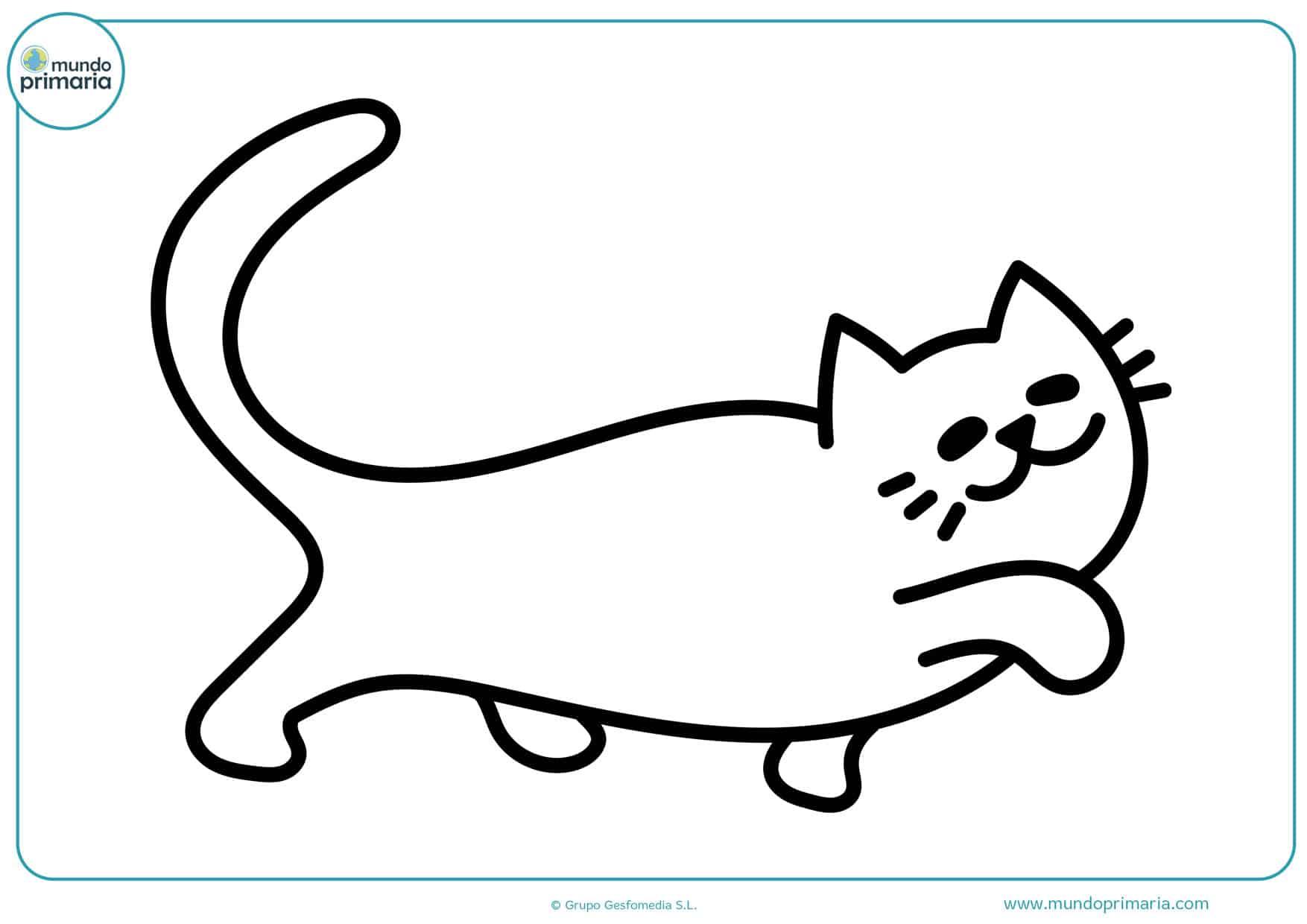 imágenes infantiles de gatos para colorear