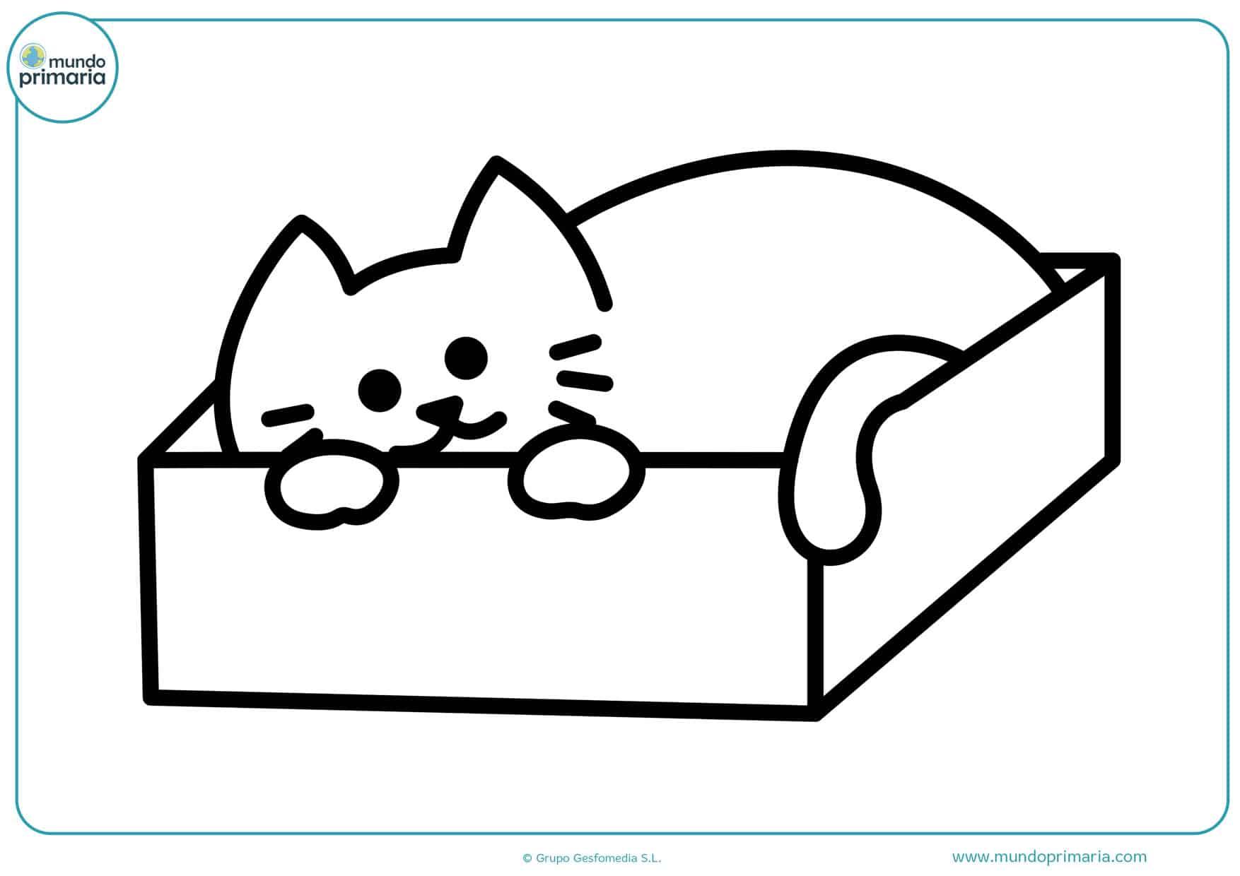 imágenes para colorear de gatos tiernos