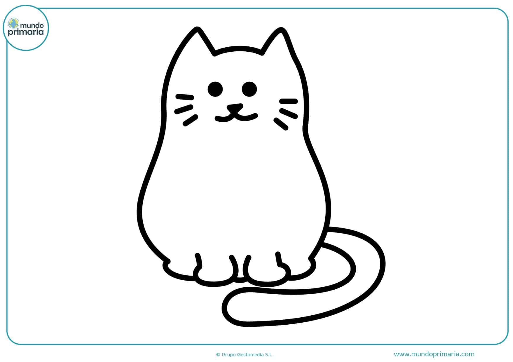 imágenes para colorear de gatos