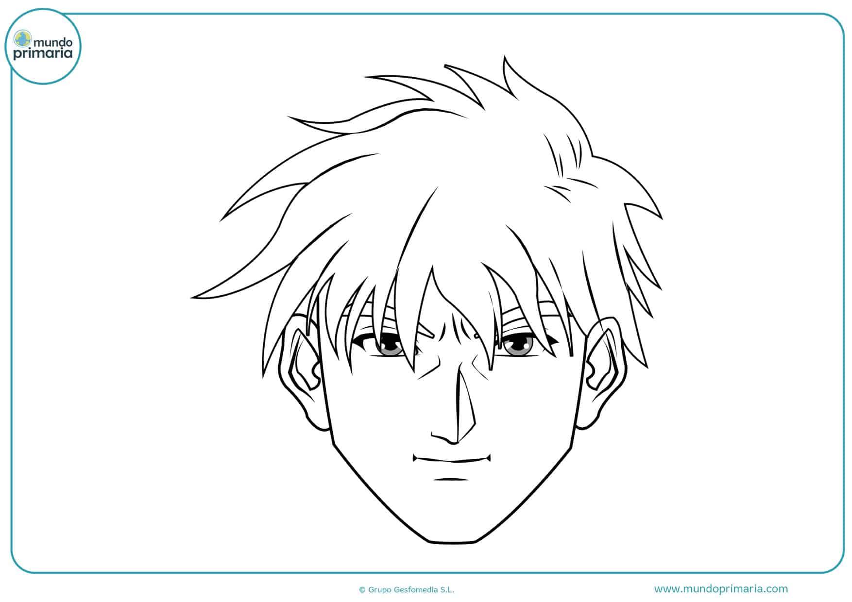 imprimir dibujos de manga para pintar