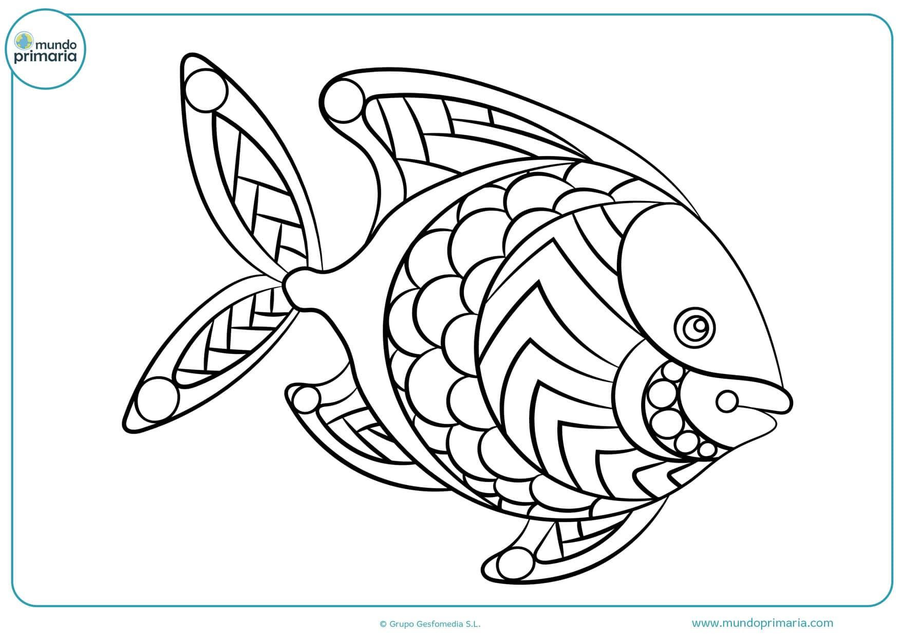 imprimir dibujos de peces para colorear