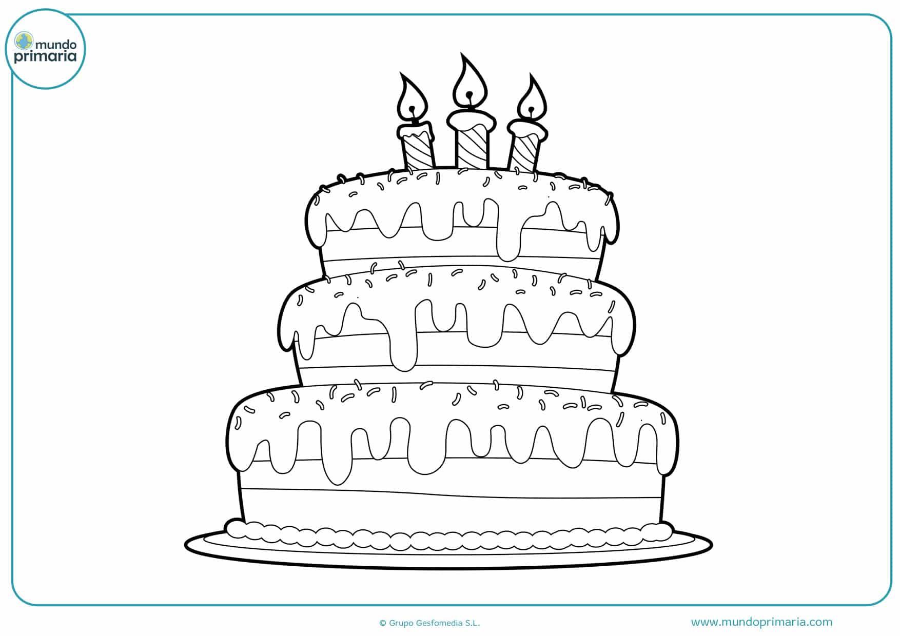 tarta de cumpleaños dibujo
