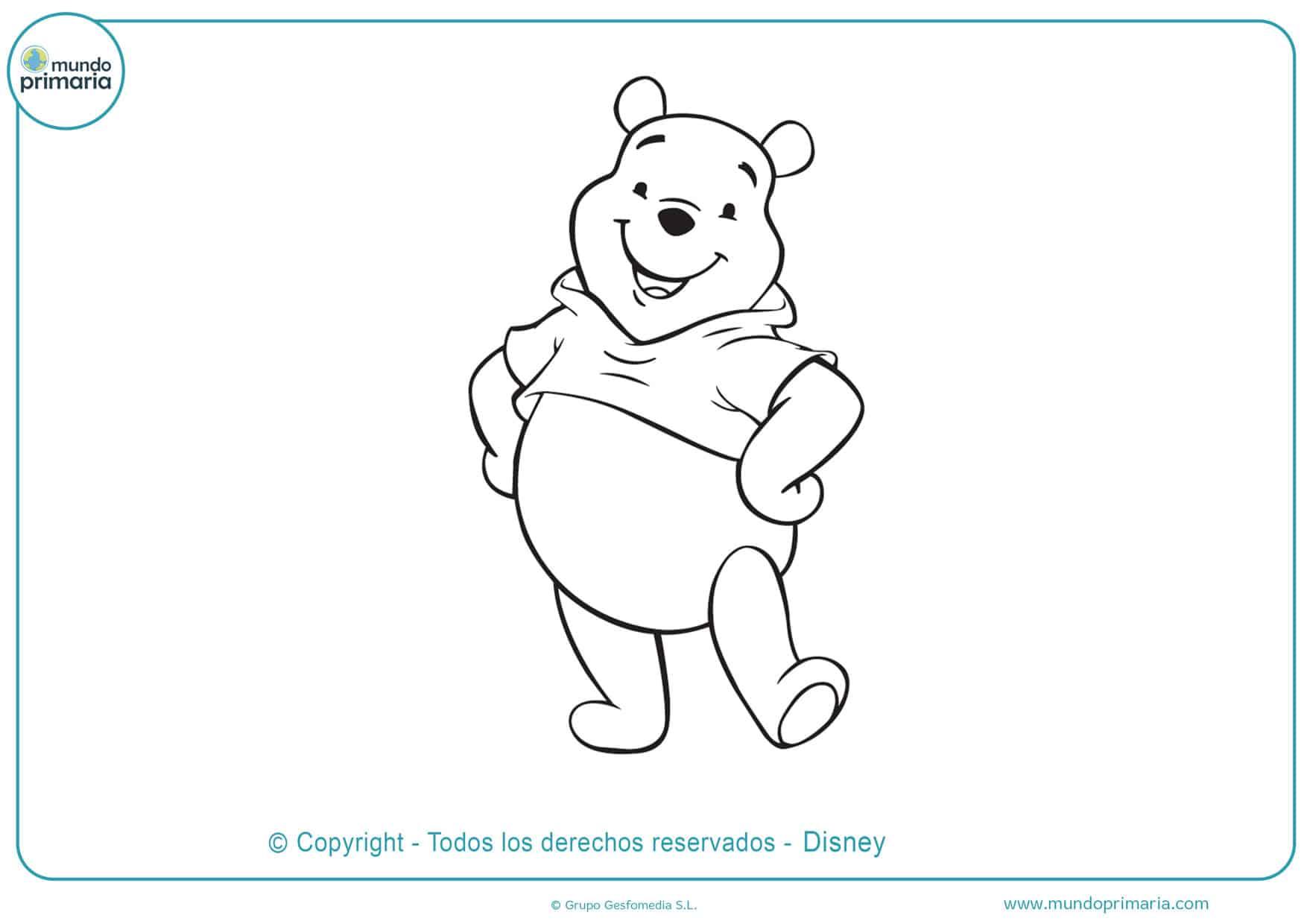 winnie de pooh dibujos para colorear