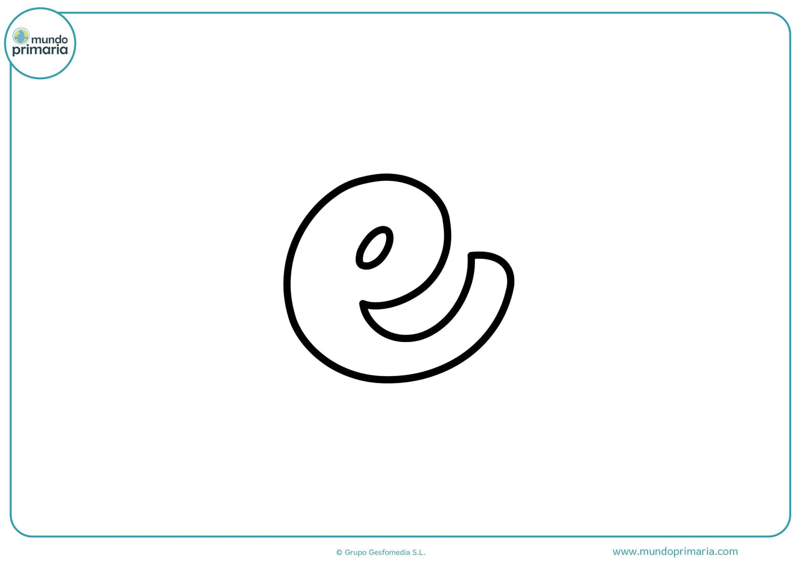 dibujos de letras e minúsculas para colorear
