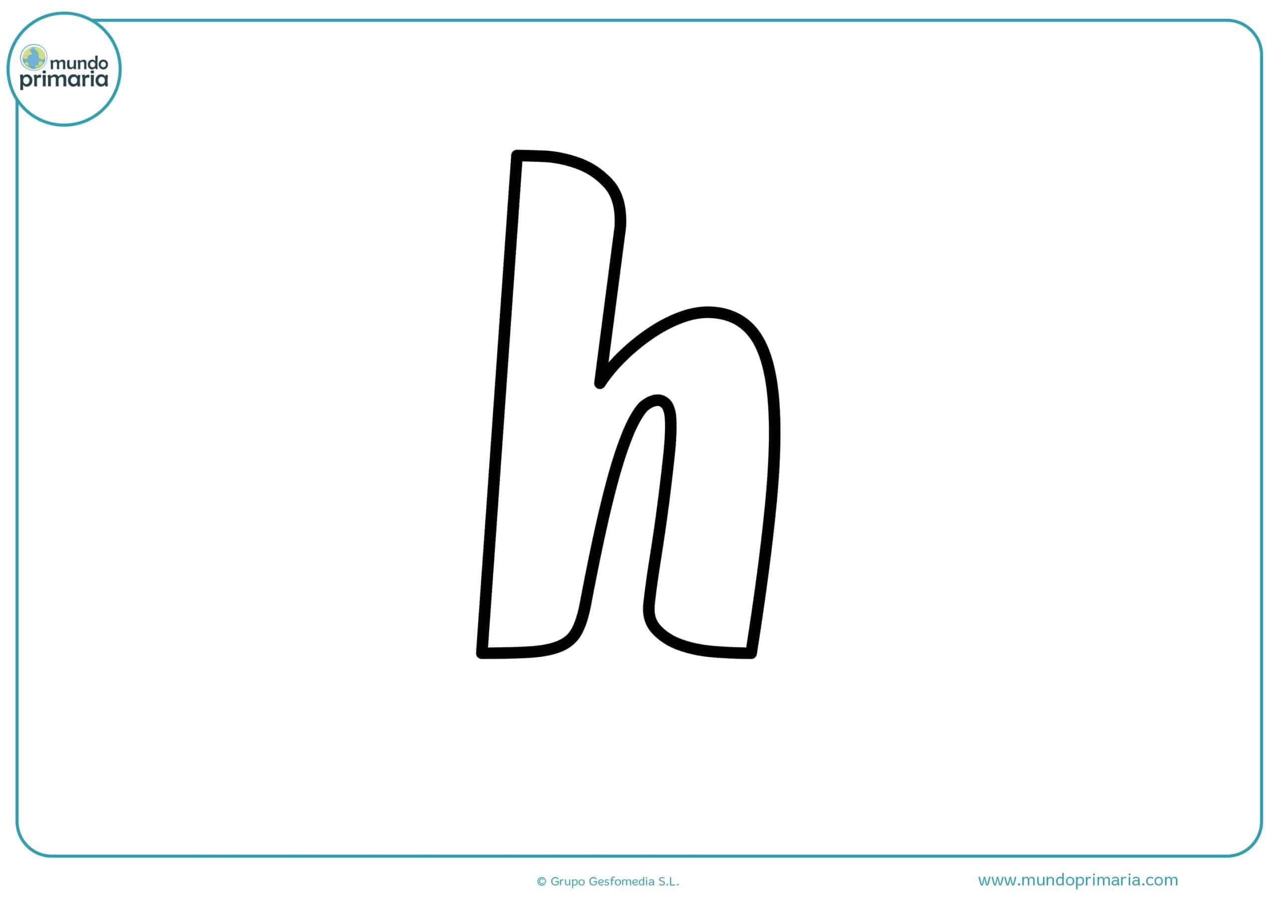 dibujos de letras h minúsculas para colorear
