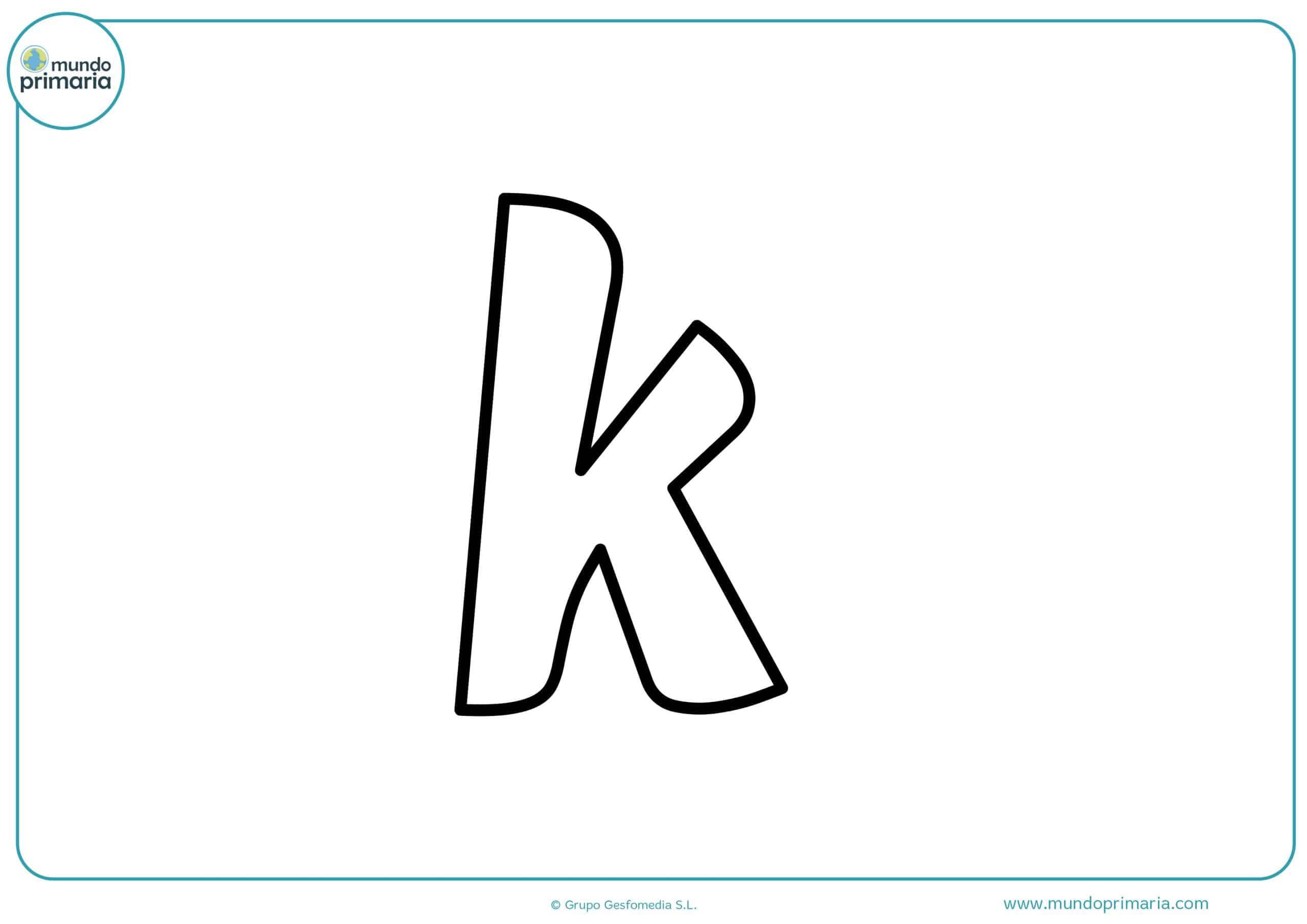 dibujos de letras k minúsculas para colorear