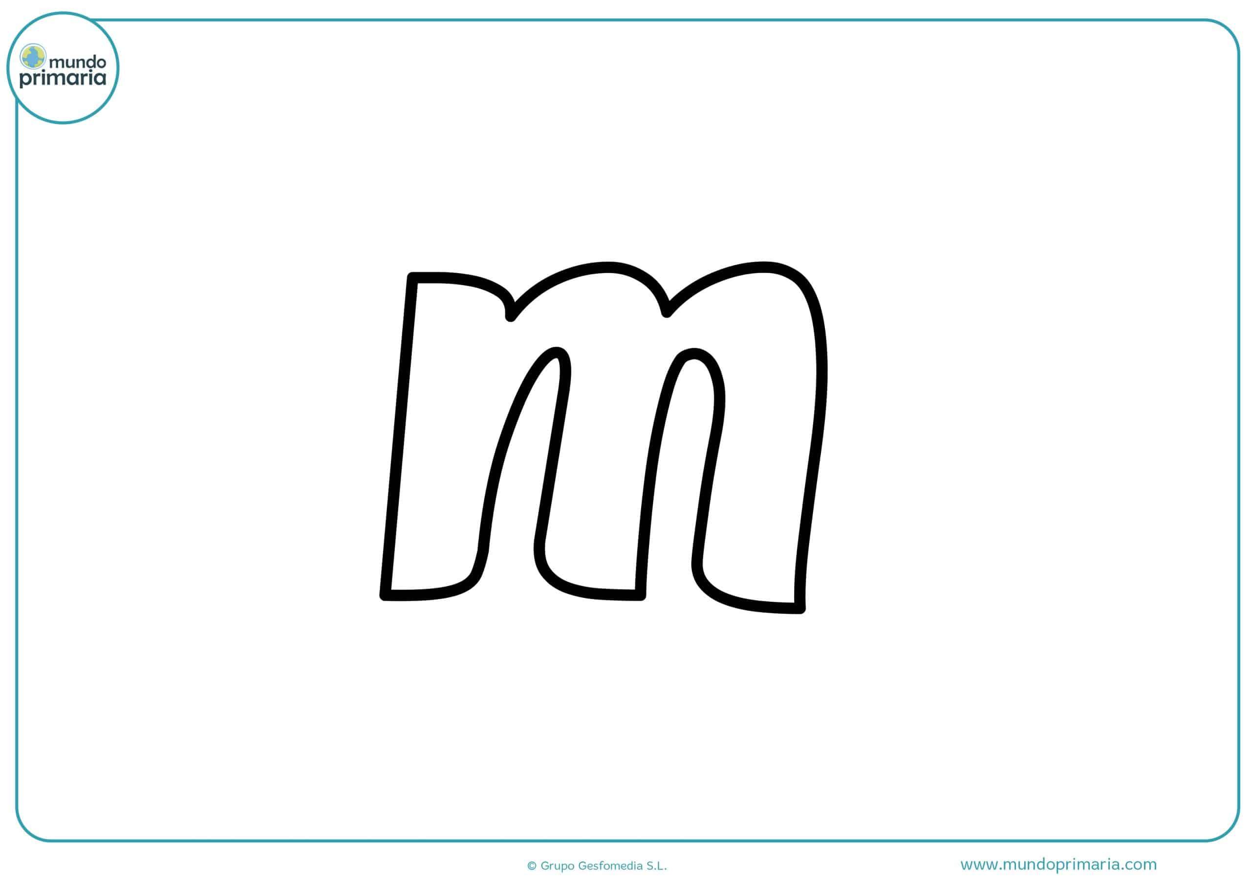 dibujos de letras m minúsculas para colorear