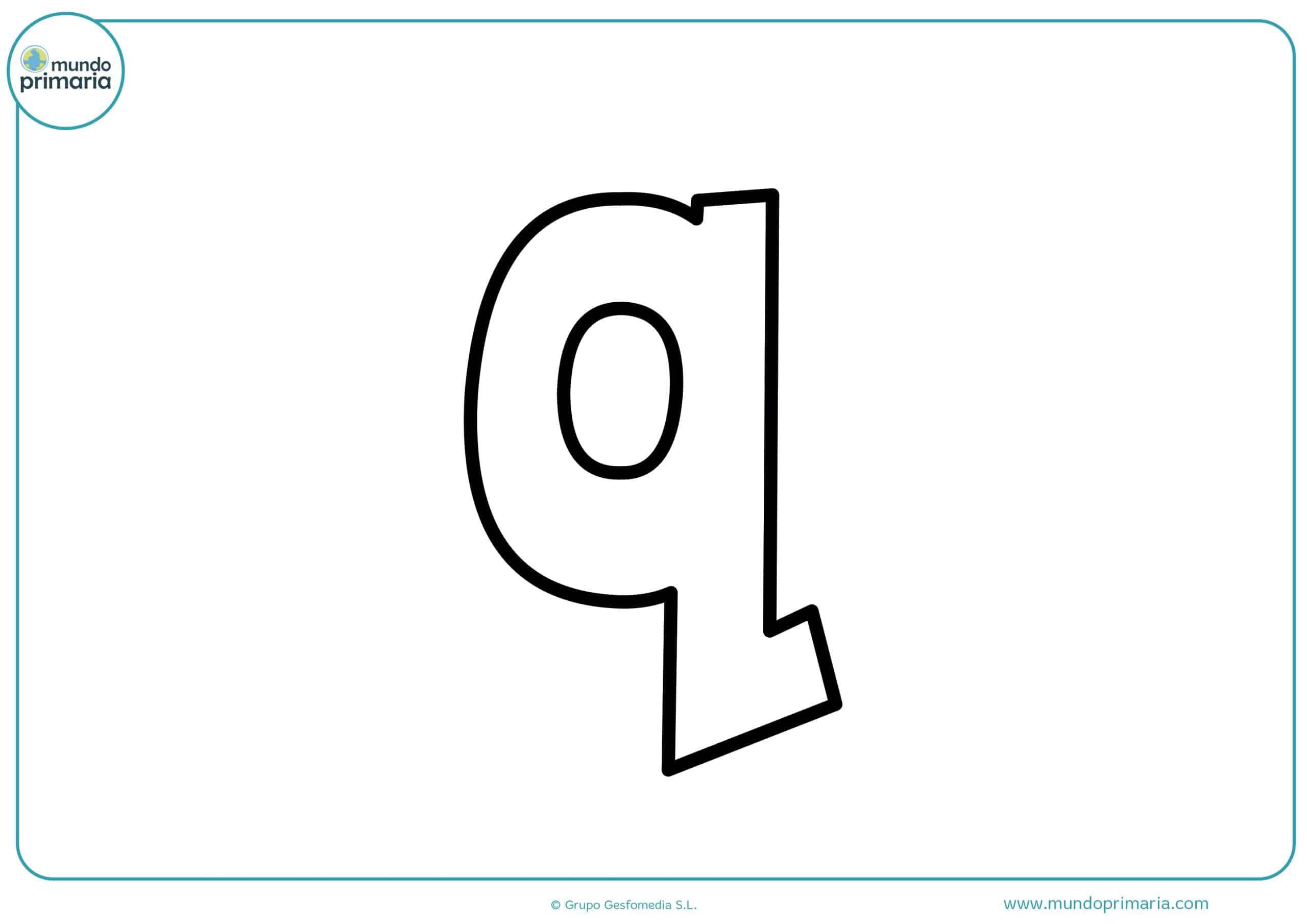 dibujos de letras q minúsculas para colorear