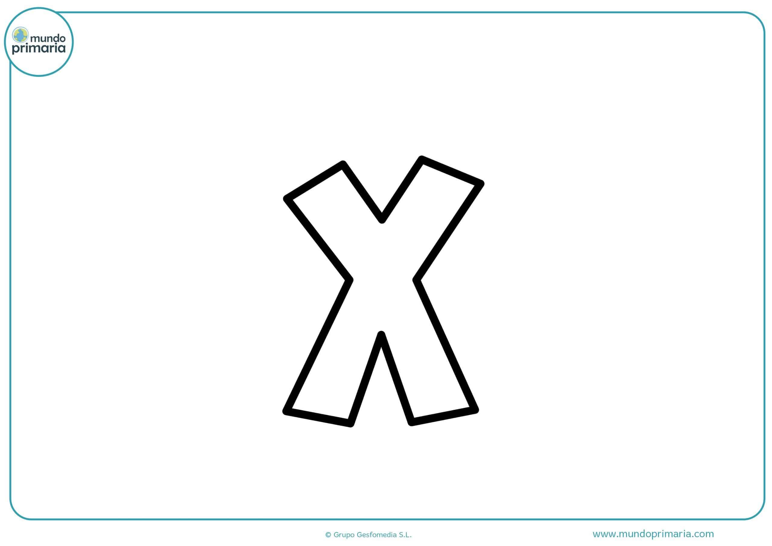 dibujos de letras x minúsculas para colorear