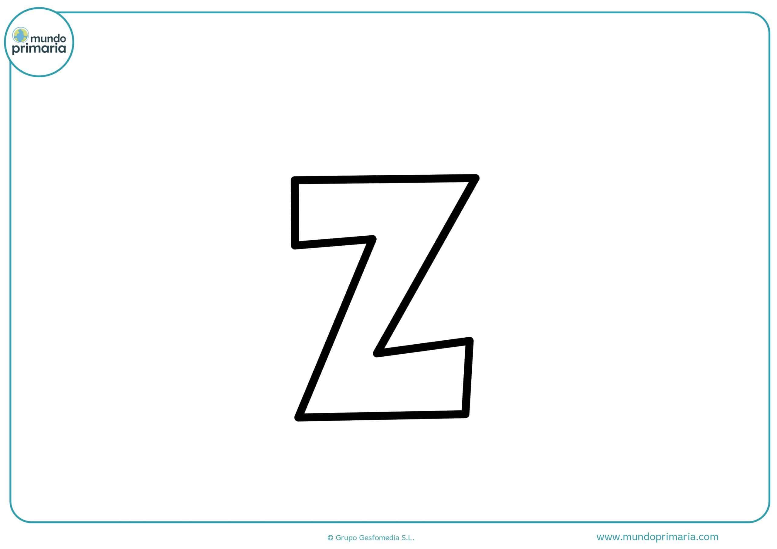 dibujos de letras z minúsculas para colorear