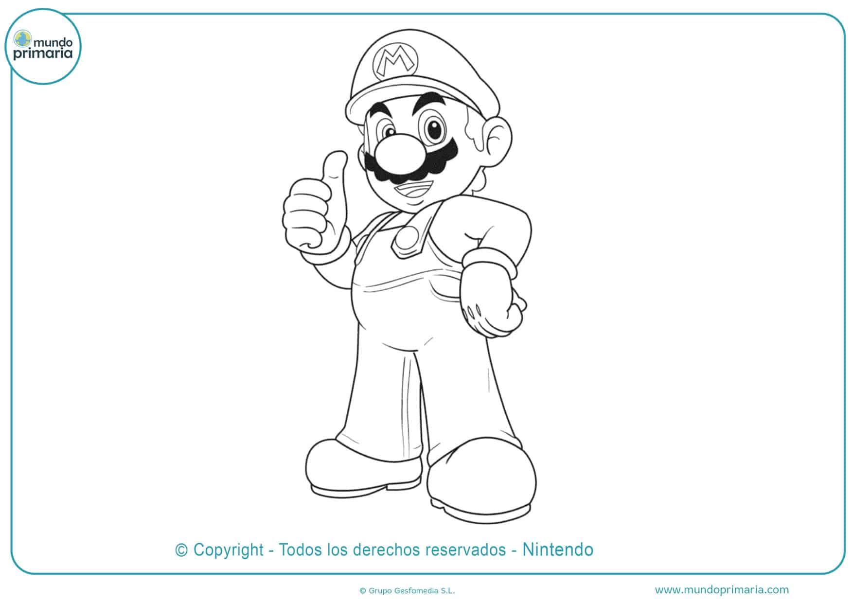 Dibujos De Mario Bros Para Colorear Mundo Primaria