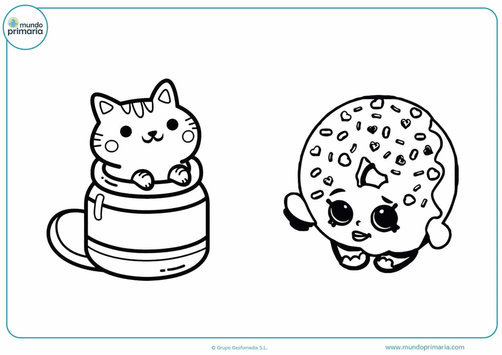 dibujos para colorear de cosas kawaii