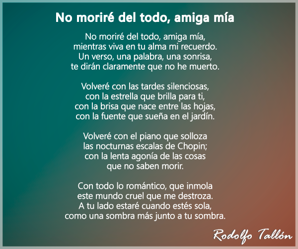 Poemas De Amistad Cortos Y Largos Con Autor