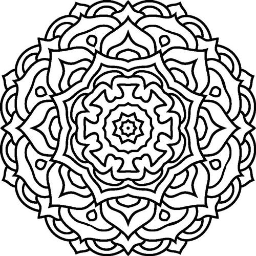 Colorear mandala