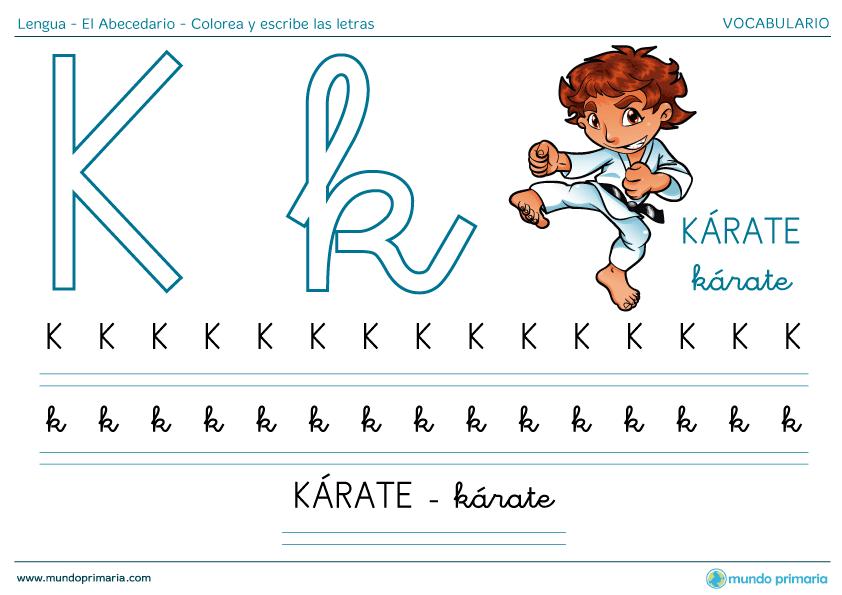 Ayudar niño aprender abecedario