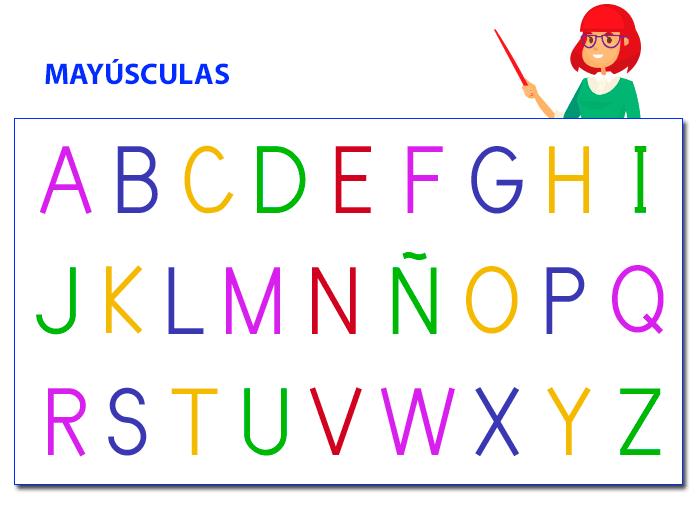 Ayudar niño aprender alfabeto