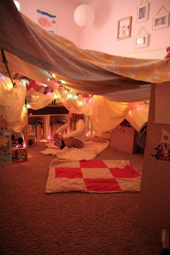 montar campamento en casa