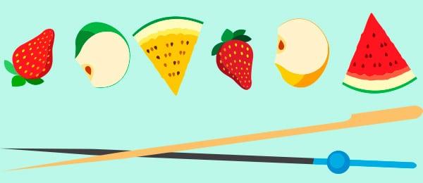 Receta Brocheta Frutas