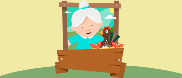 Cuento la vieja y la gallina
