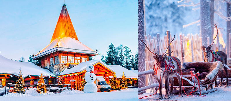 Viajar Familia Rovaniemi Finlandia