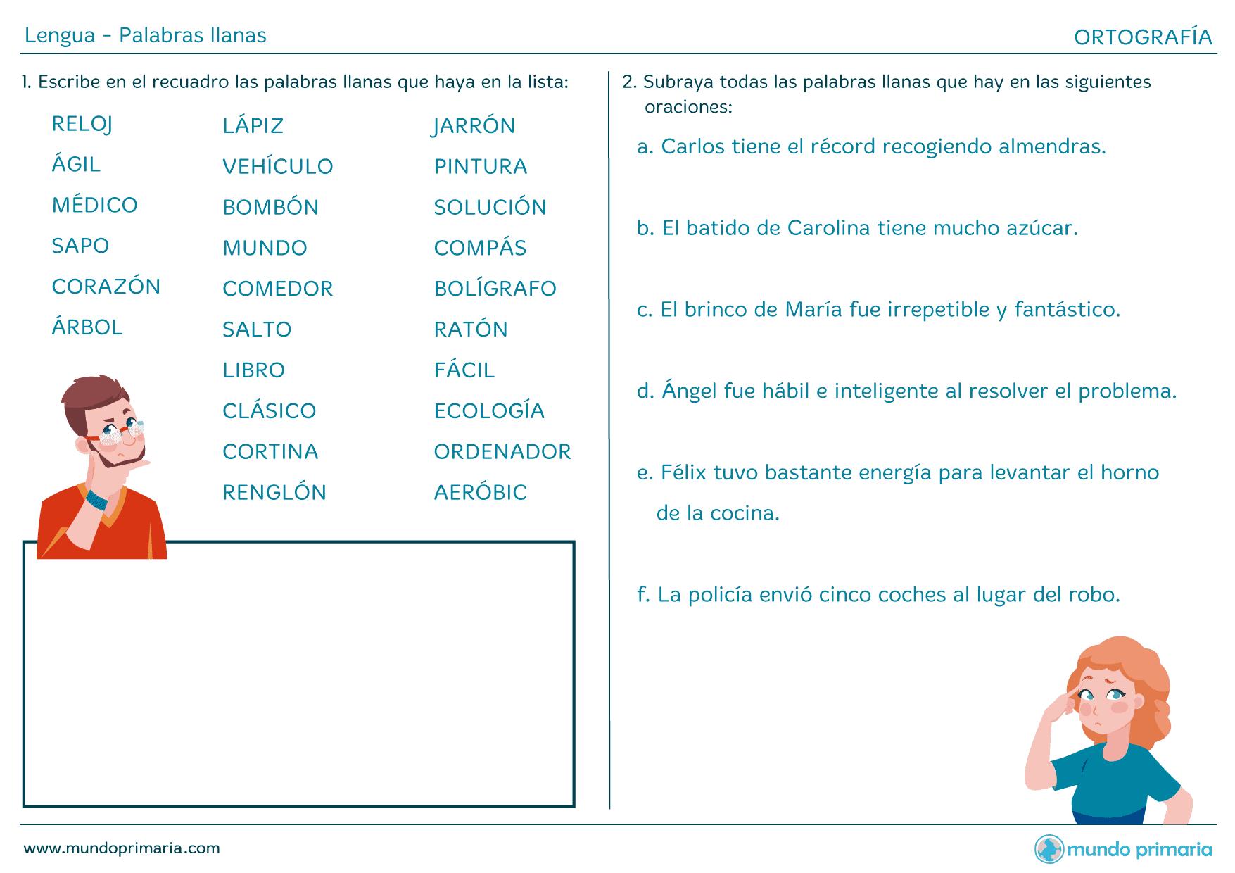 Cl Palabras Llanas 1