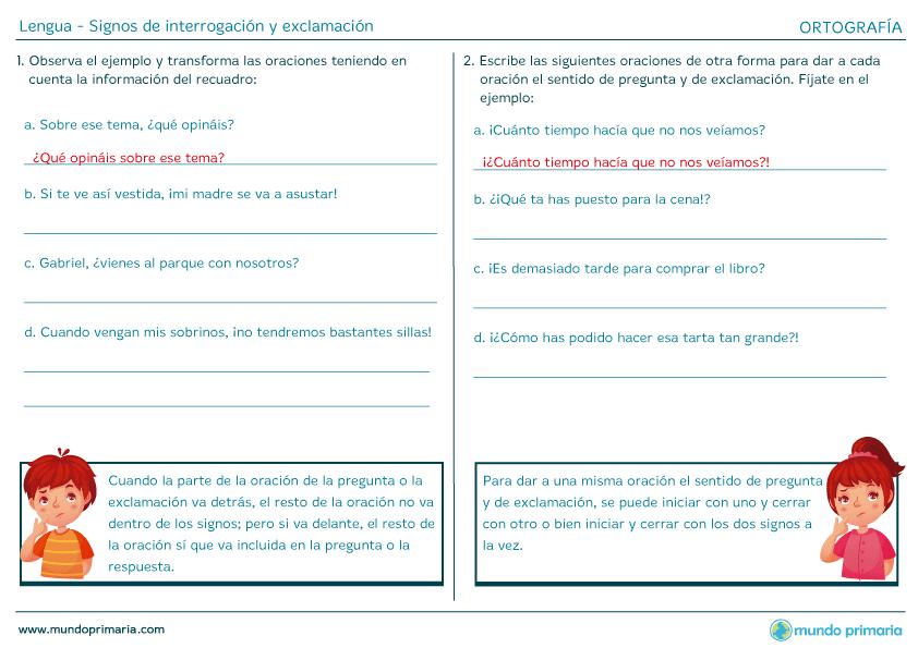 Cl Signos De Interrogación Y Exclamación 2