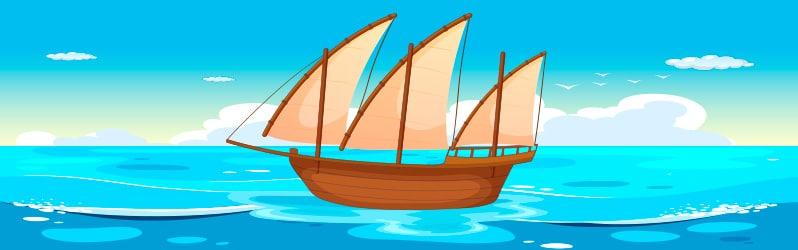 Fábula corta Los navegantes de Samaniego