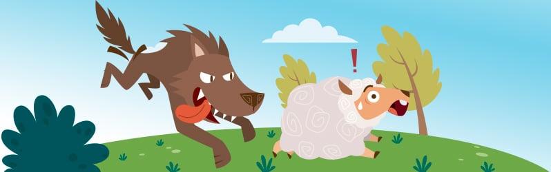 Fábula de Esopo El lobo y el cordero
