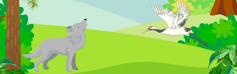 Fábula de Fedro El lobo y la grulla