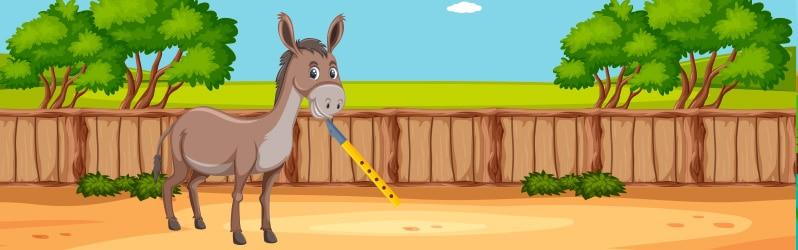 Fábula de Iriarte El burro y la flauta