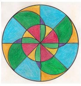 Eje de simetría horizontal para niños