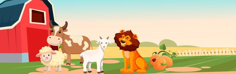 Fábula de La Fontaine La ternera, la cabra y la oveja en compañía del león