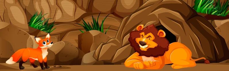 Fábula de Samaniego El león y la zorra