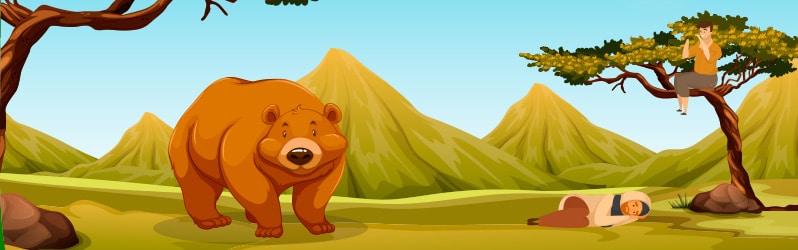 Fábula de Samaniego Los dos amigos y el oso
