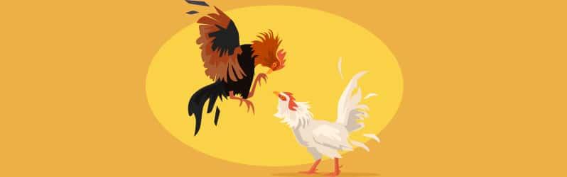 Fábula de Samaniego Los dos gallos