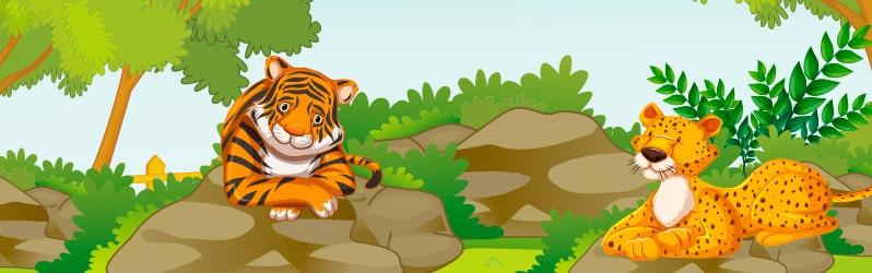 Fábulas mexicanas El tigre hipócrita y el leopardo