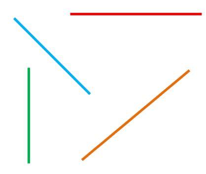 Líneas poligonales abiertas