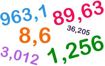 Números decimales mini