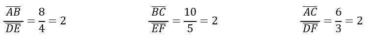 Teorema Thales para niños de Primaria
