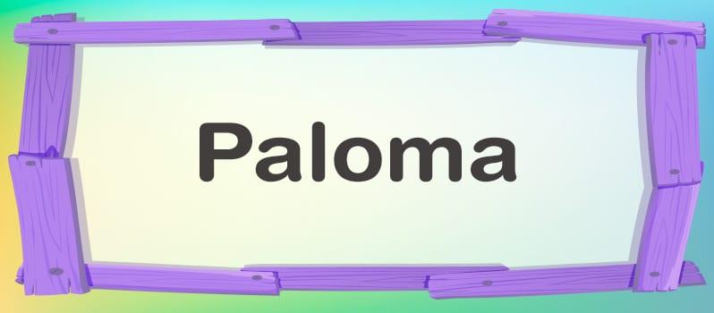 Nombre Paloma significado
