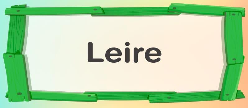 Qué significa Leire