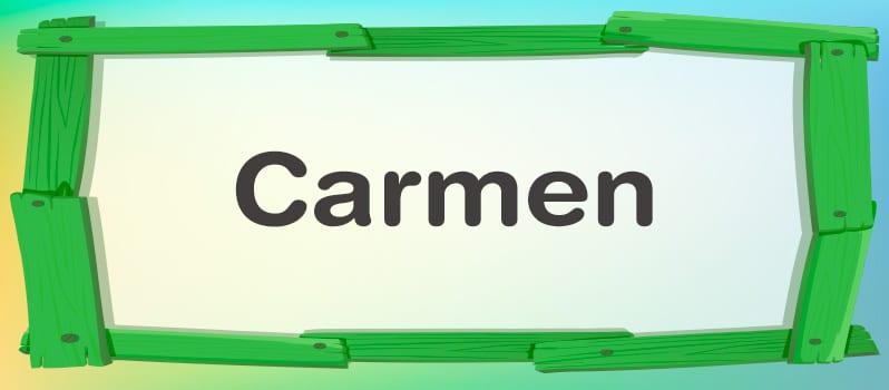 Cuál es el significado de Carmen