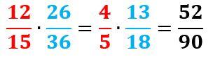 Multiplicación y división de fracciones en primaria