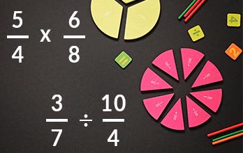 Multiplicación y división de fracciones mini